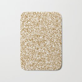 Tiny Spots - White and Golden Brown Bath Mat