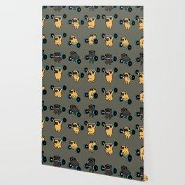 OLYMPIC LIFTING PUG Wallpaper