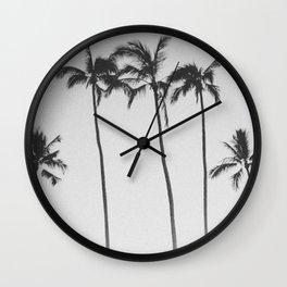 PALM TREES XII / Honolulu, Hawaii Wall Clock