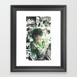 Midoriya Izuku My Hero Academia Framed Art Print