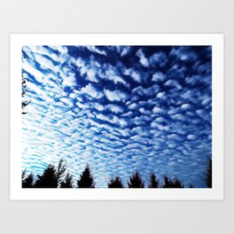 wave clouds Art Print