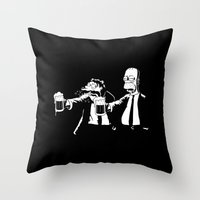 simpson Throw Pillows featuring Pulp Simpson by Stationjack