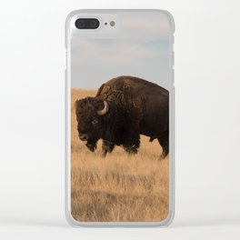 Bison Bull in Badlands Clear iPhone Case