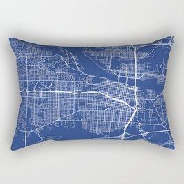 Little Rock, USA - Blue Rectangular Pillow