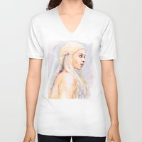 danny ivan V-neck T-shirts featuring Danny by Maria Bruggeman