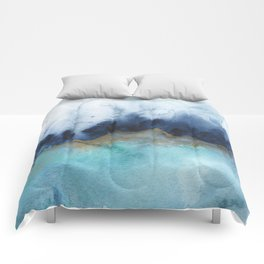 Mystic abstract watercolor Comforters