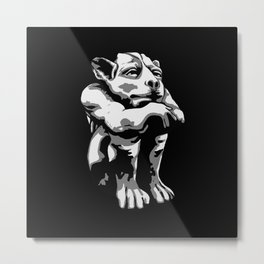 Chill-in Gargoyle Metal Print