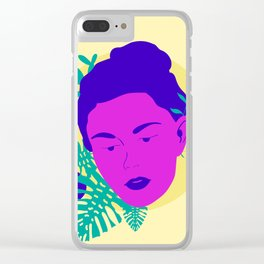 Floral Girl Clear iPhone Case