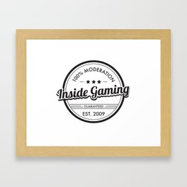 Inside Gaming - 100% Moderation  Framed Art Print