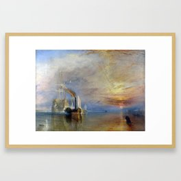 The Fighting Temeraire Joseph Mallord William Turner 1839 Framed Art Print