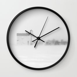 Chilly Day at the Grainery Wall Clock