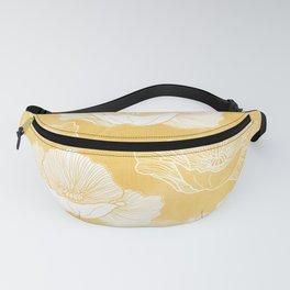 Poppy bloom - yellow Fanny Pack