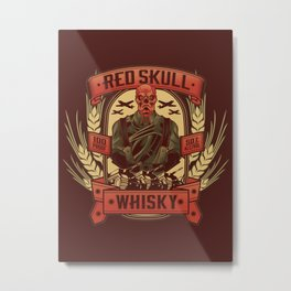 Red Whisky Metal Print