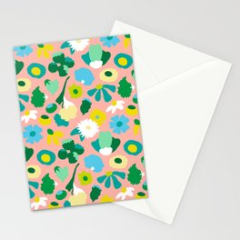 Mod Woodland Floral in Peach Stationery Cards