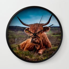 Scottish Highland longhorns Rancher Wall Clock