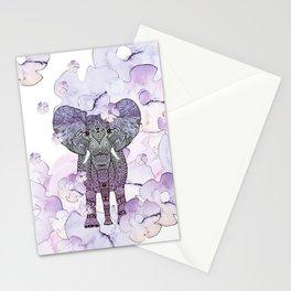 FLOWER SHOWER ELEPHANT Stationery Cards