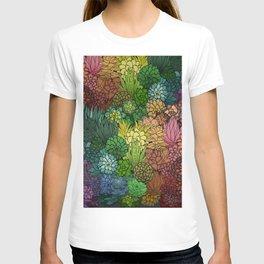 Succulent Garden Rainbow T-shirt