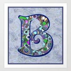 The Letter B Art Print
