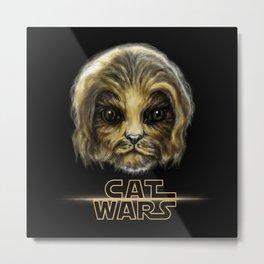 Cat Wars Chewbecca Metal Print