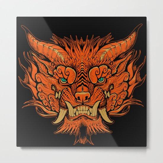 Foo Dog Metal Print