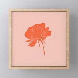 Red-Orange Peony Framed Mini Art Print