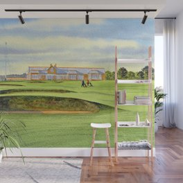 Royal Troon Golf Course 18th And Clubhouse Wall Mural