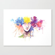 Silk Flower Canvas Print