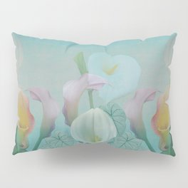 Painterly Calla flowers and leaves Pillow Sham
