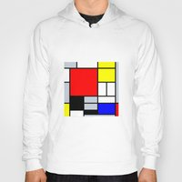 mondrian Hoodies featuring Mondrian by Dizzy Moments