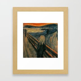 The Scream Framed Art Print