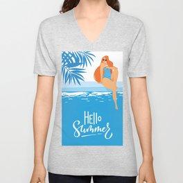 Hello Summer #1 Unisex V-Neck