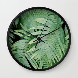 Green Collection I Wall Clock
