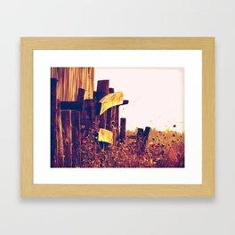 Country landscape Framed Art Print