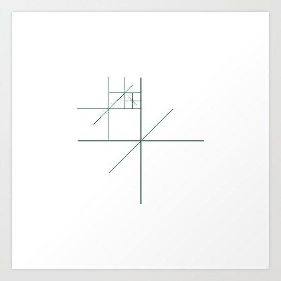 #321 Star gazer – Geometry Daily Art Print