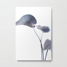 Split Leaves, in Teal and Purple Metal Print