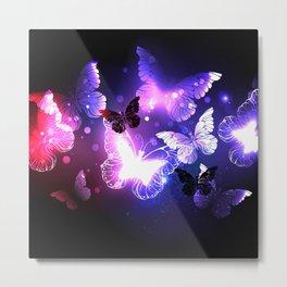 Swarm of Night Butterflies Metal Print