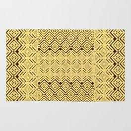 geometric layout in creamy yellow Rug