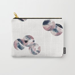 Random Pink and Navy Polka Dots Carry-All Pouch