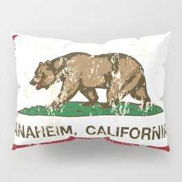 Anaheim California Republic flag Distressed  Pillow Sham
