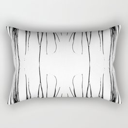 Abstract Black and White 1461 Rectangular Pillow