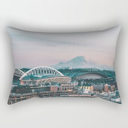 Seattle & Mount Rainier Rectangular Pillow