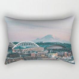 Seattle & Mount Rainier Rectangular Pillow