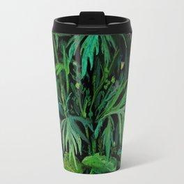 Green & Black, summer greenery Travel Mug