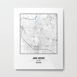 Ann Arbor, Michigan Metal Print