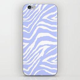 ZEBRA PURPLE AND WHITE ANIMAL PRINT iPhone Skin