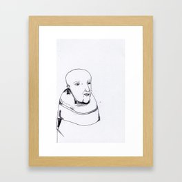 he is a monk. he knows he is a monk. Framed Art Print