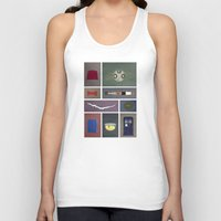 fez Tank Tops featuring Eleven (Doctor Who) Colors by avoid peril