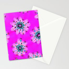 Neon Lilly Lace Rose Stationery Cards