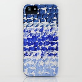 Modern Minimalist Abstract Blue Water iPhone Case