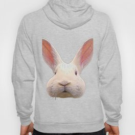 Rabbit Face Careful Not Being Noticed Avoid Reaction Hoody